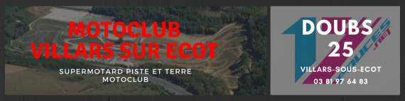 Circuit supermotard villars sous ecot 25
