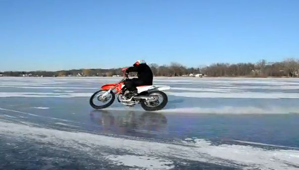 VIDEO: Wisconsin ice riding 2012