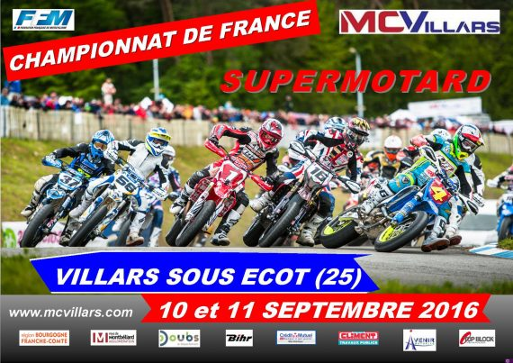 Villars-sous-Ecot supermotard france 2016