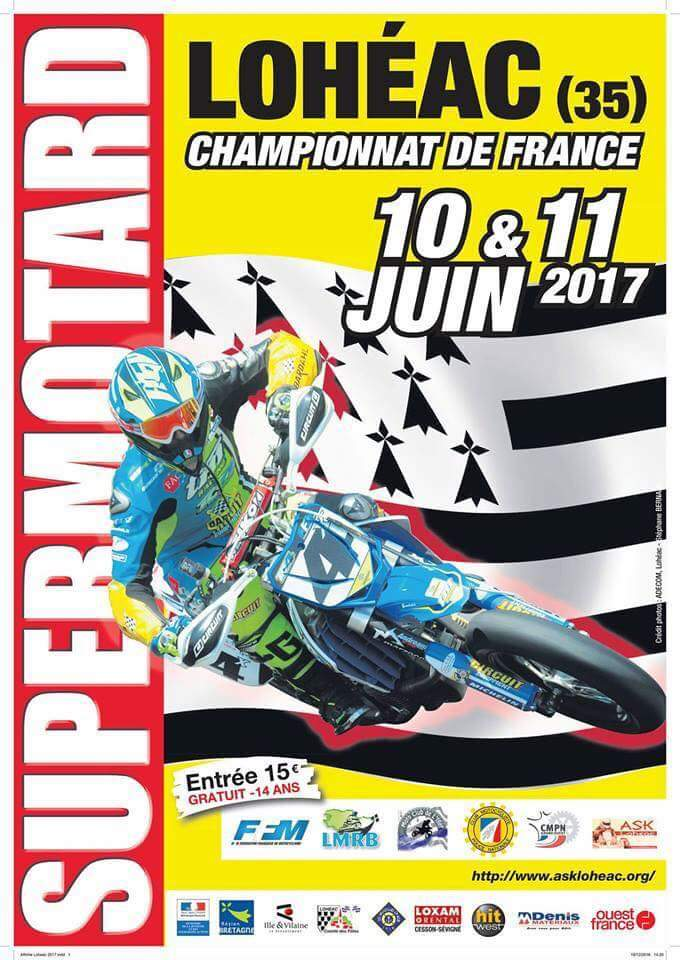 Loheac championnat de France Supermotard 2017
