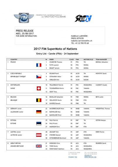 Équipe nations supermoto 2017