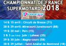 Championnat de France supermotard 2018 : le calendrier.