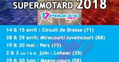 Calendrier course supermotard championnat de France 2018