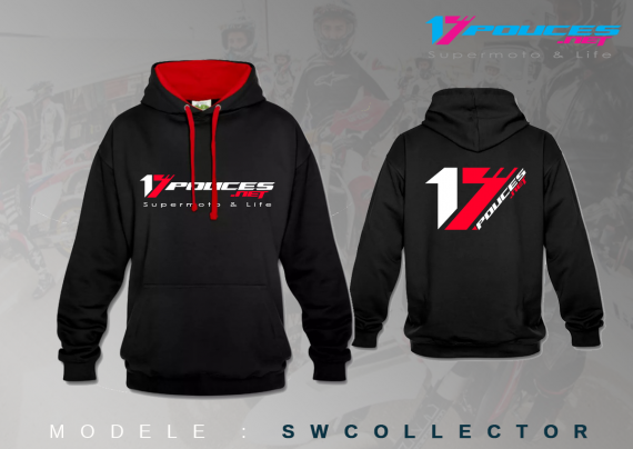 Sweat supermotard 17 pouces collector