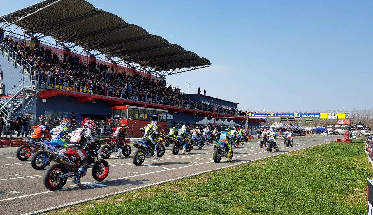 Supermoto europe Ottobiano 2018 race