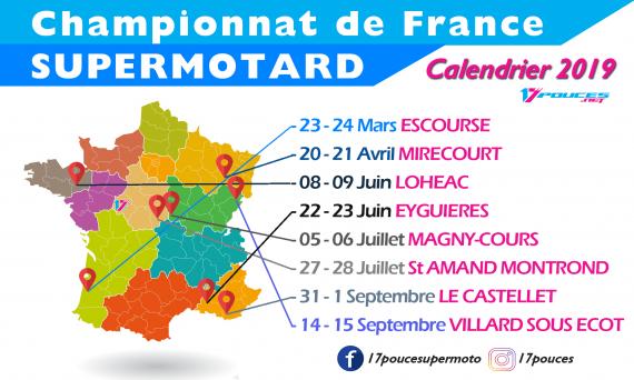 Calendrier championnat de france supermotard 2019