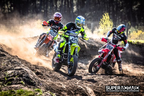 Partie terre supermotard course
