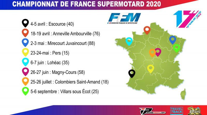 Calendrier championnat de France Supermotard 2020