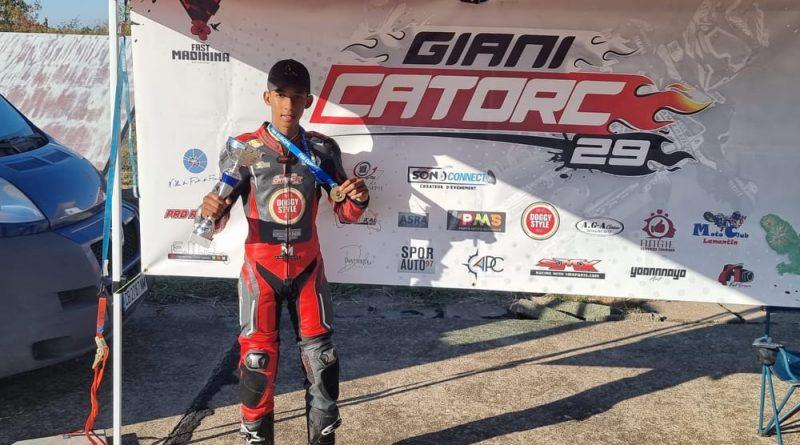 Giani Catorc champion d'Europe Supermoto Junior 2021